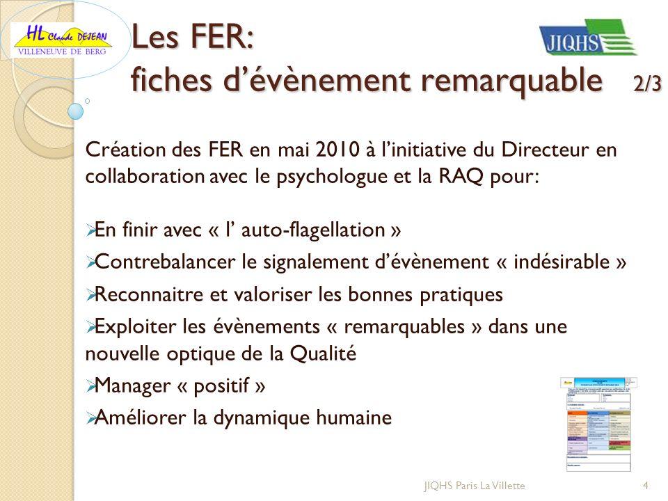 Les FER: fiches d'évènement remarquable 2/3