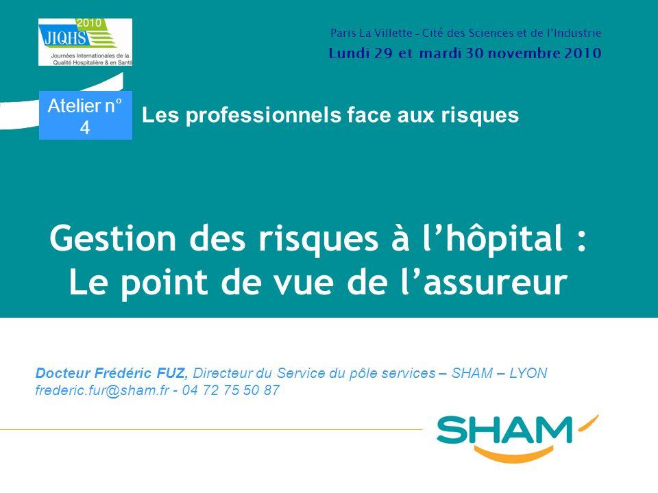 Gestion des risques à l'hôpital : Le point de vue de l'assureur