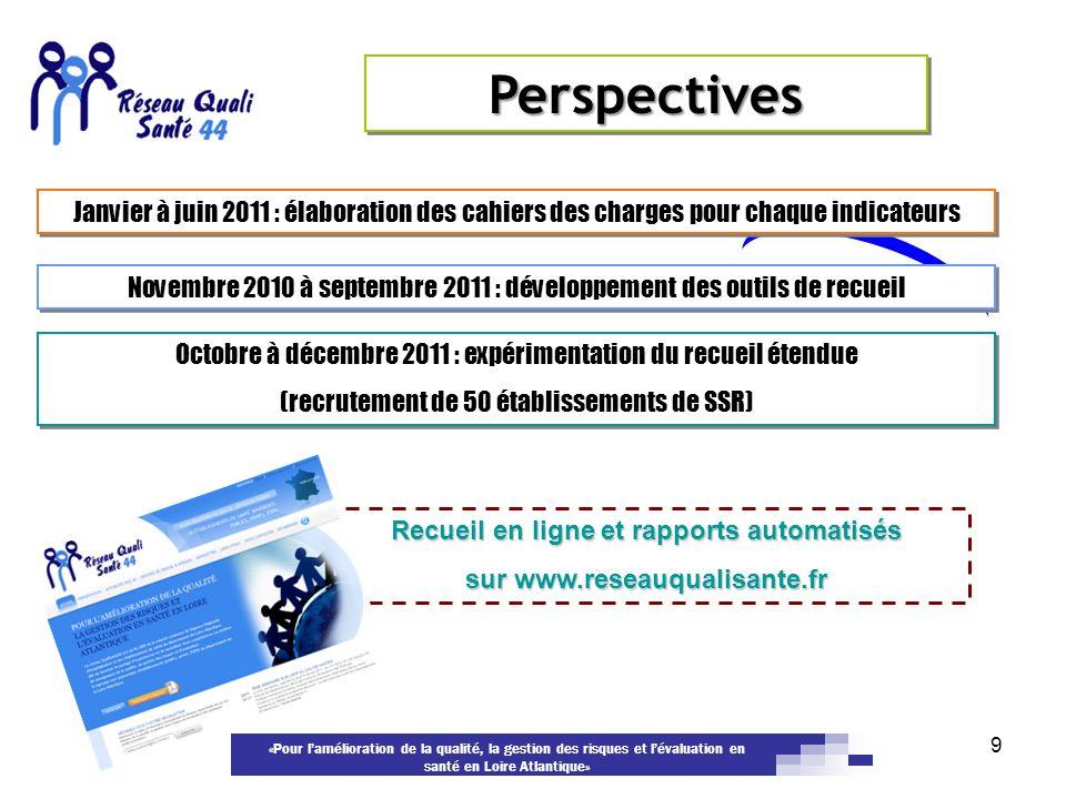 Recueil en ligne et rapports automatisés sur www.reseauqualisante.fr
