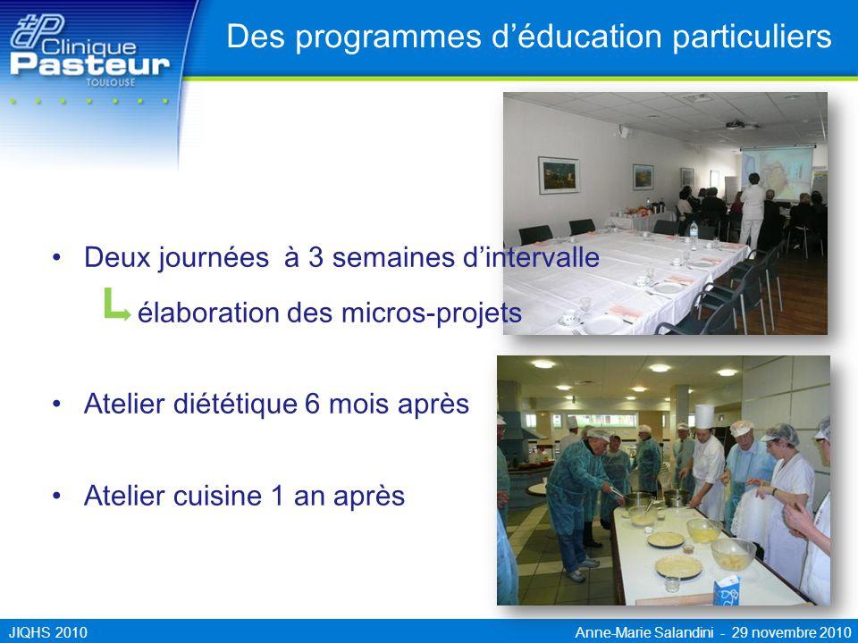 Des programmes d'éducation particuliers