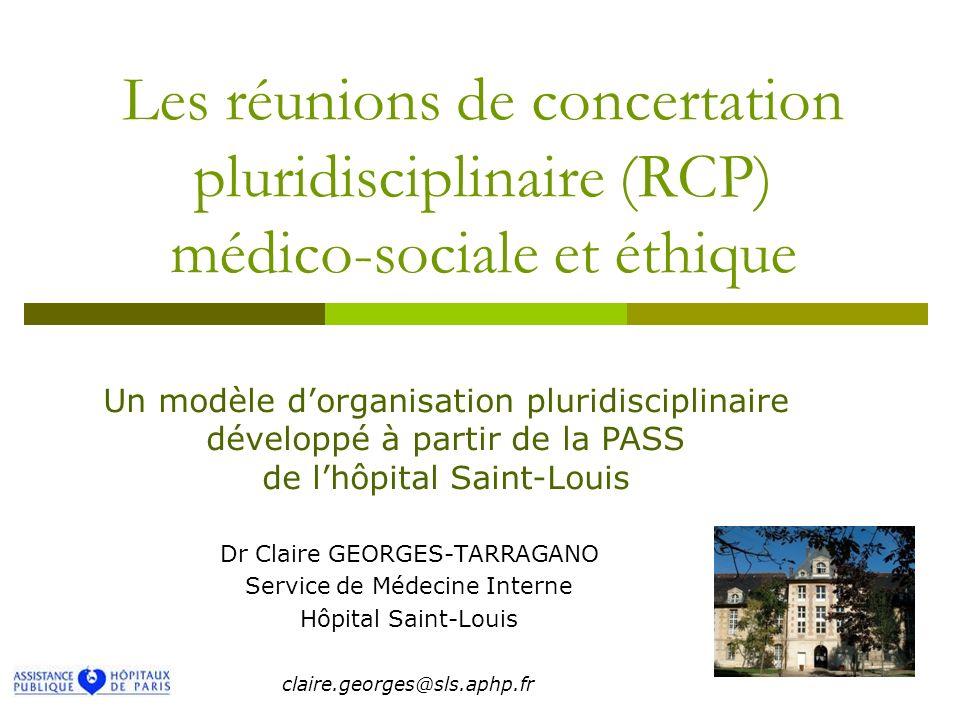 Les réunions de concertation pluridisciplinaire (RCP) médico-sociale et éthique