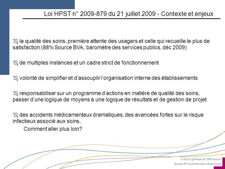 Loi HPST n° 2009-879 du 21 juillet 2009 - Contexte et enjeux
