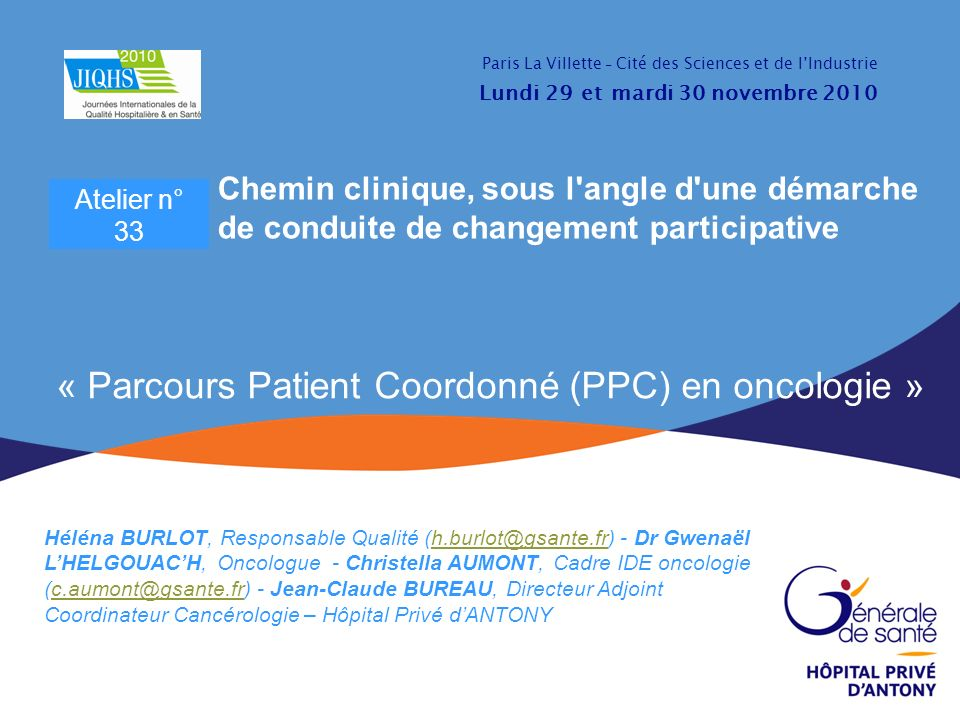 « Parcours Patient Coordonné (PPC) en oncologie »
