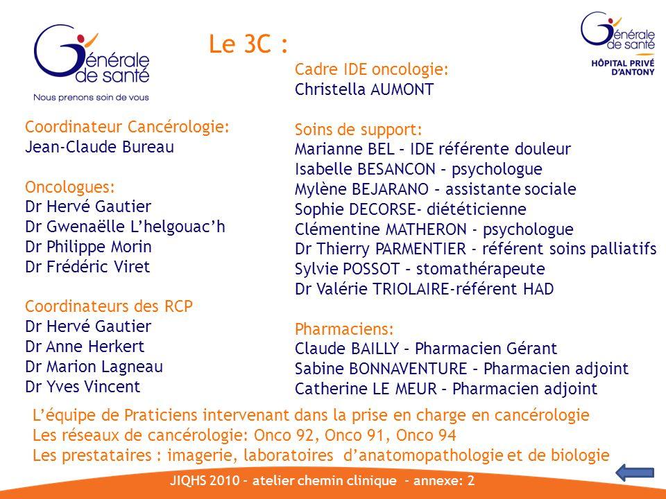 JIQHS 2010 - atelier chemin clinique - annexe: 2