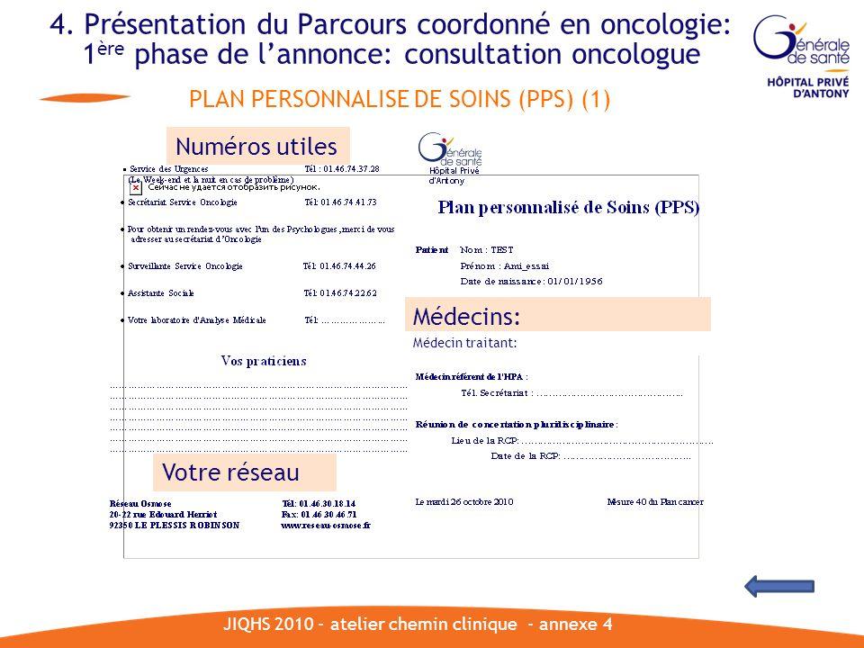 JIQHS 2010 - atelier chemin clinique - annexe 4