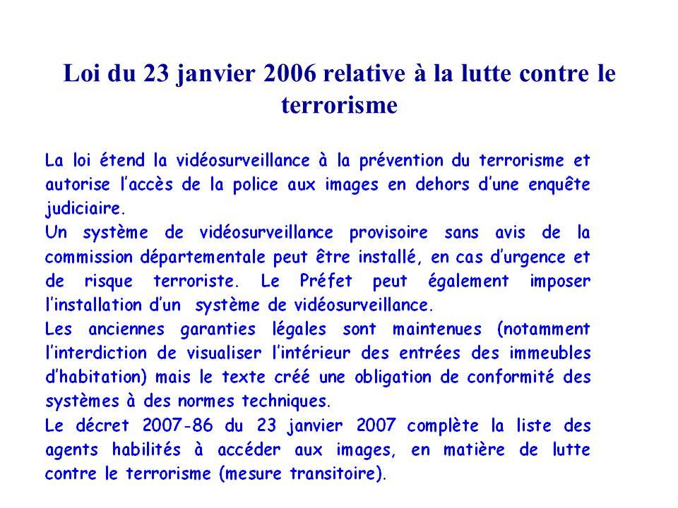 Loi du 23 janvier 2006 relative à la lutte contre le terrorisme