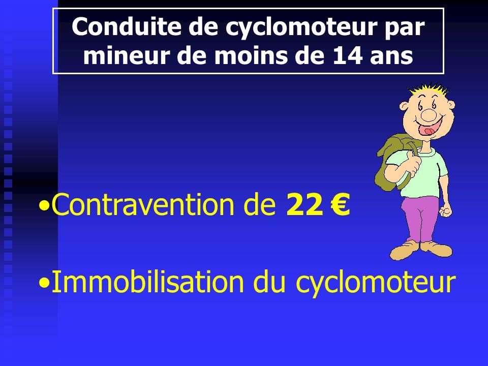 Conduite de cyclomoteur par mineur de moins de 14 ans