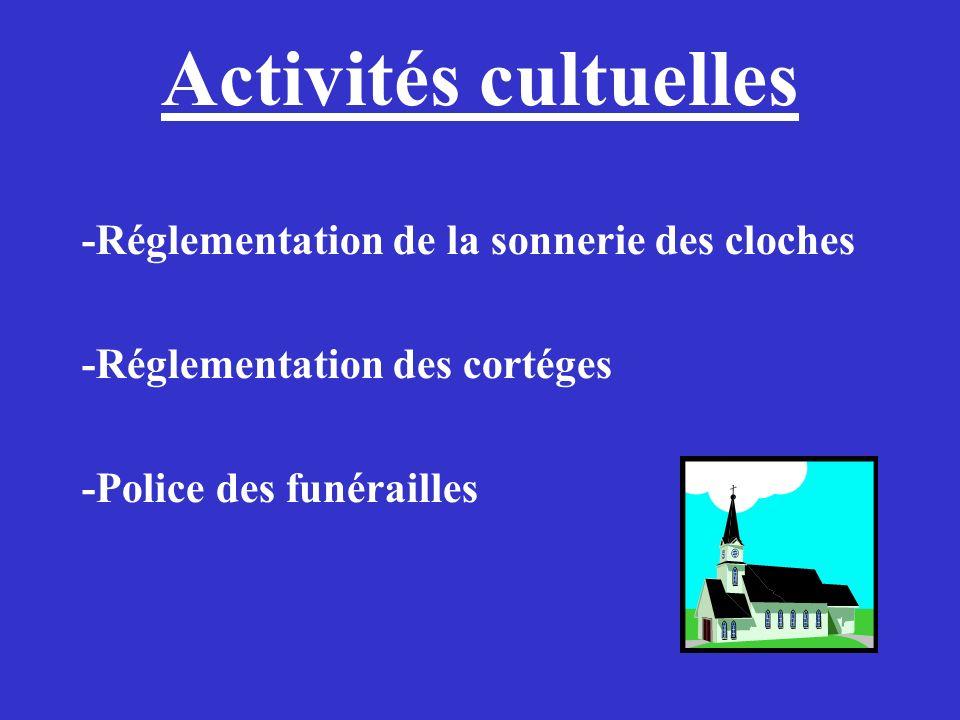 Activités cultuelles -Réglementation de la sonnerie des cloches