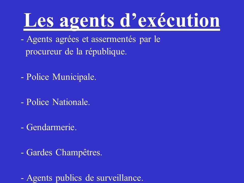 Les agents d'exécution