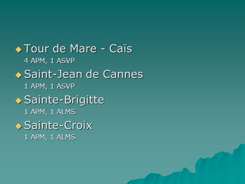 Tour de Mare - Caïs Saint-Jean de Cannes Sainte-Brigitte Sainte-Croix