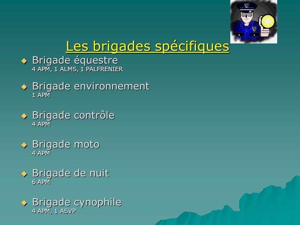 Les brigades spécifiques