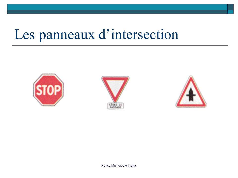 Les panneaux d'intersection