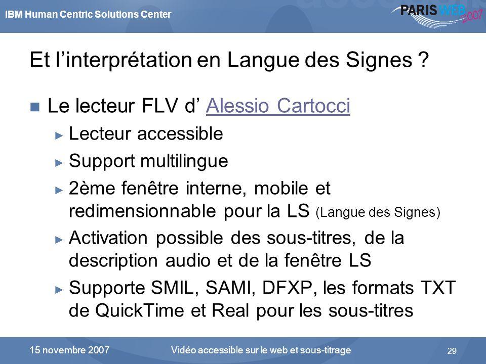 Et l'interprétation en Langue des Signes