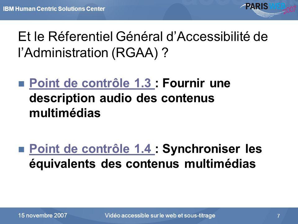 Et le Réferentiel Général d'Accessibilité de l'Administration (RGAA)