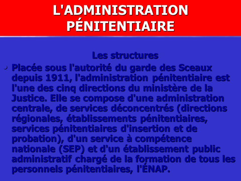 L ADMINISTRATION PÉNITENTIAIRE