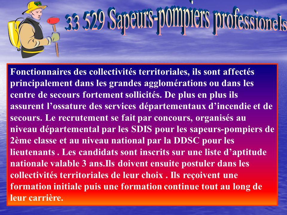 33 529 Sapeurs-pompiers professionels