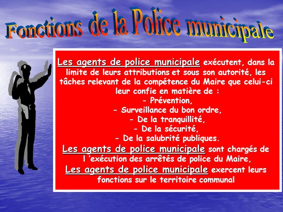 Fonctions de la Police municipale