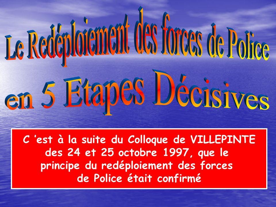 Le Redéploiement des forces de Police