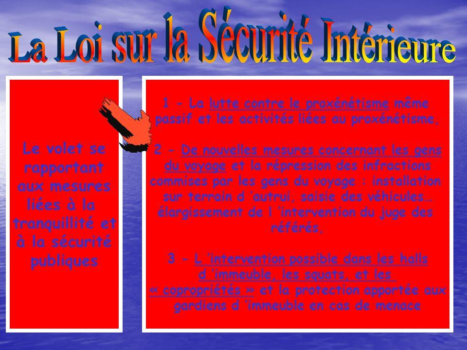 La Loi sur la Sécurité Intérieure
