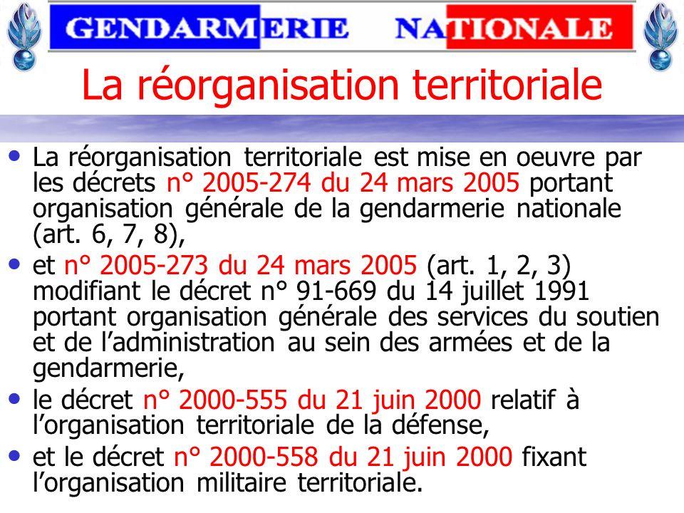 La réorganisation territoriale
