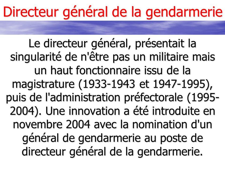 Directeur général de la gendarmerie