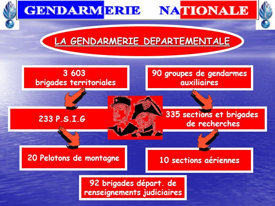LA GENDARMERIE DEPARTEMENTALE