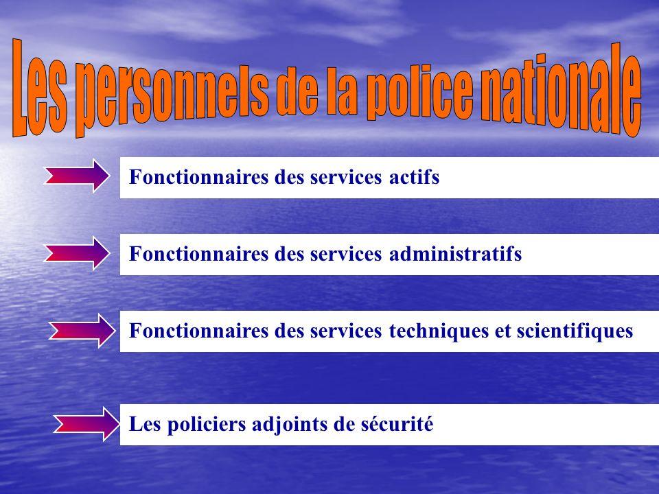 Les personnels de la police nationale