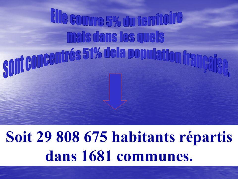 Soit 29 808 675 habitants répartis dans 1681 communes.