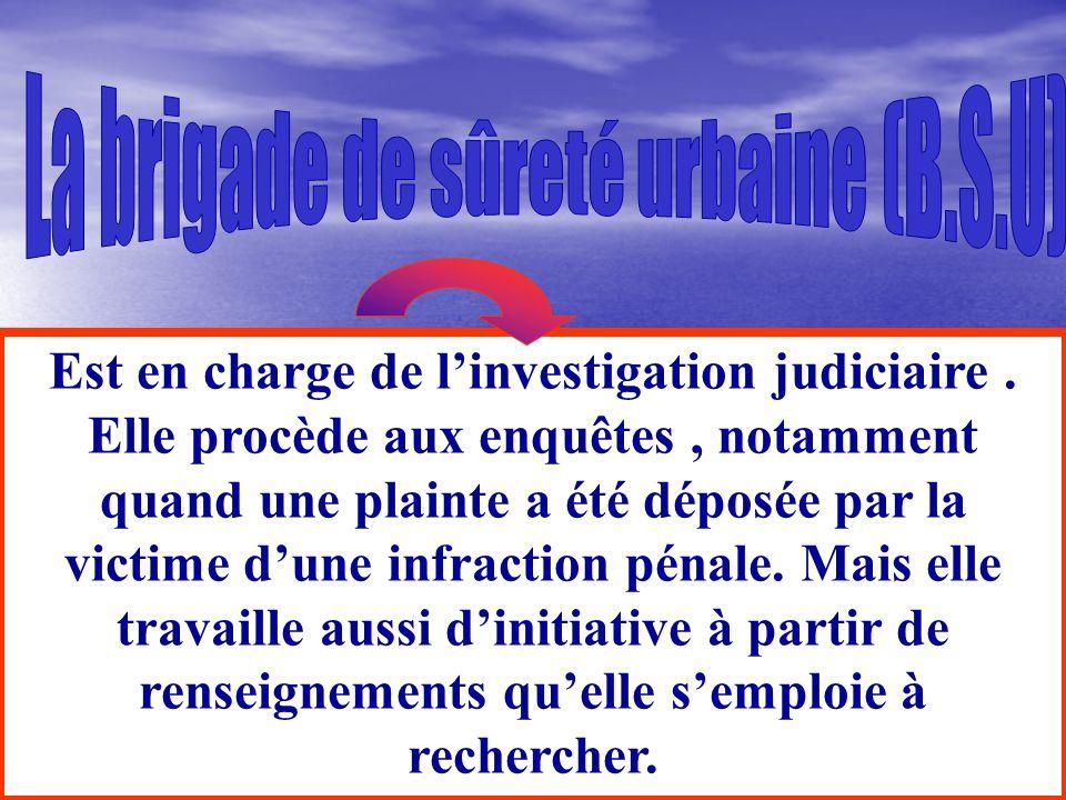 La brigade de sûreté urbaine (B.S.U)