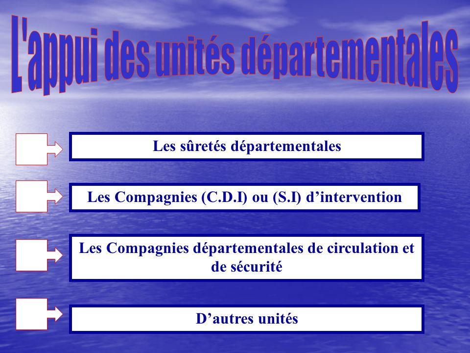 L appui des unités départementales