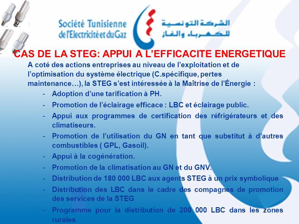 CAS DE LA STEG: APPUI A L'EFFICACITE ENERGETIQUE