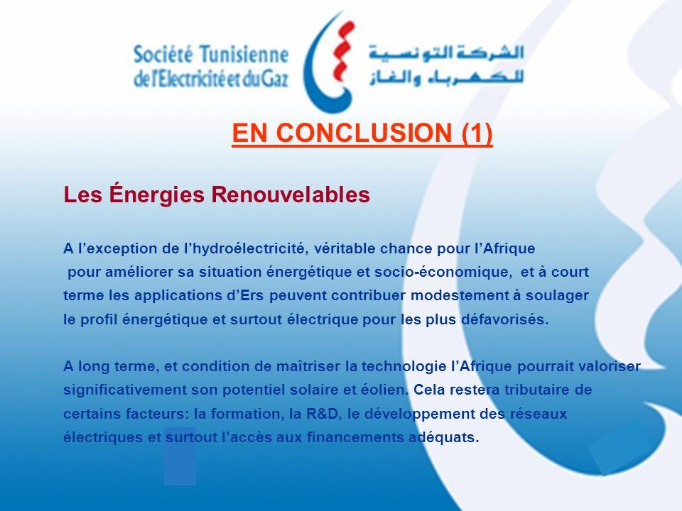 EN CONCLUSION (1) Les Énergies Renouvelables