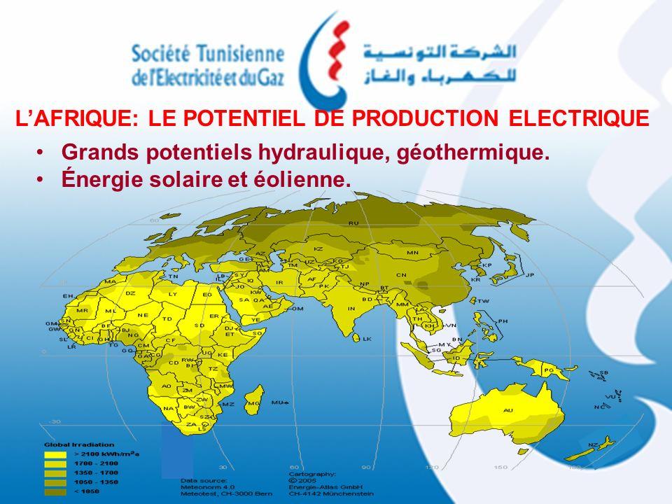 L'AFRIQUE: LE POTENTIEL DE PRODUCTION ELECTRIQUE