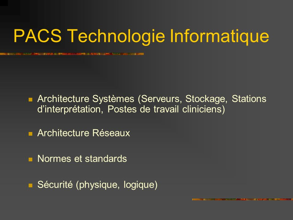 PACS Technologie Informatique