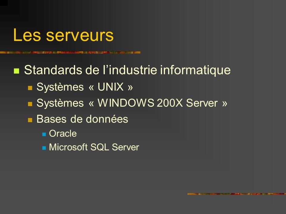Les serveurs Standards de l'industrie informatique Systèmes « UNIX »