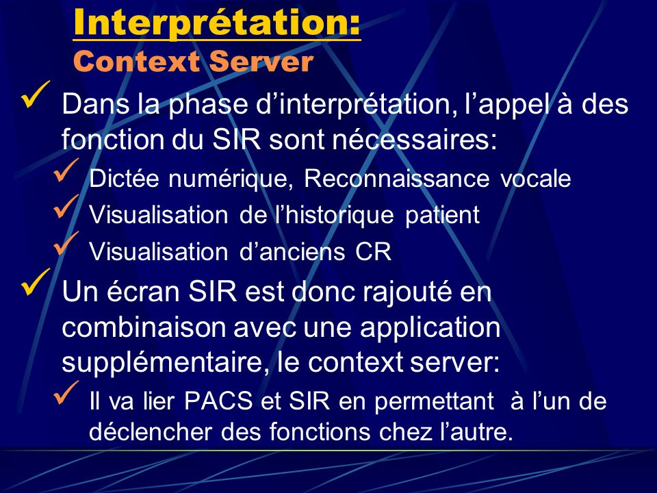 Interprétation: Context Server