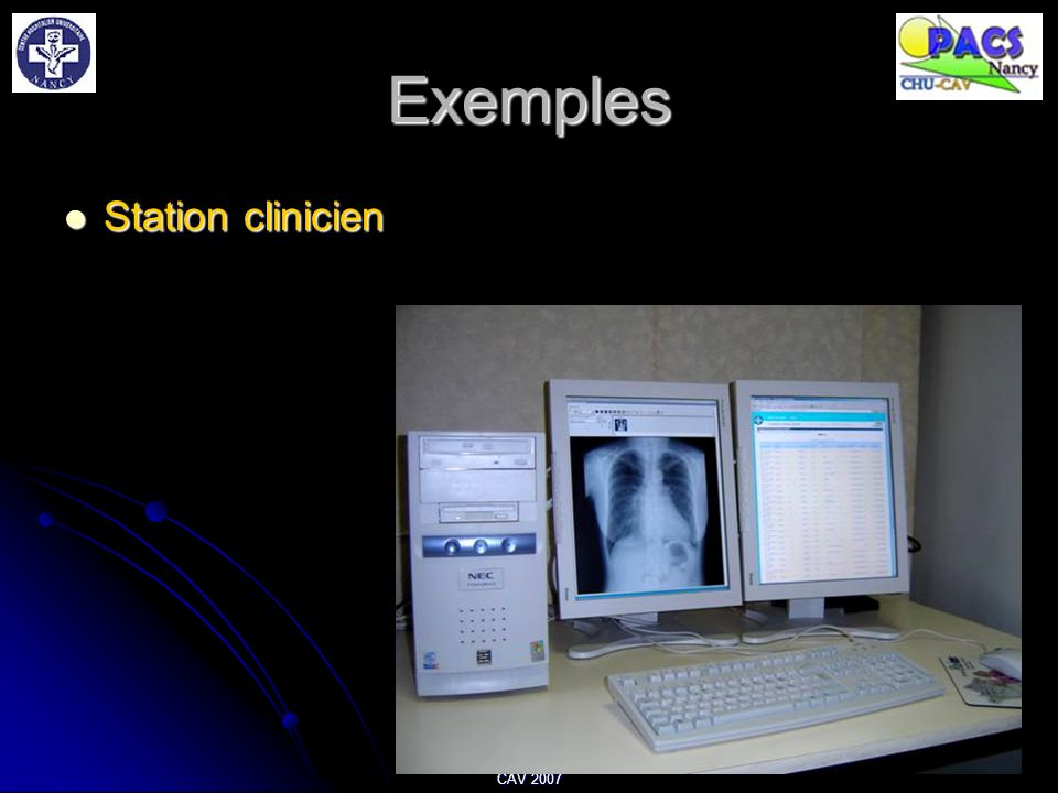 Exemples Station clinicien CAV 2007