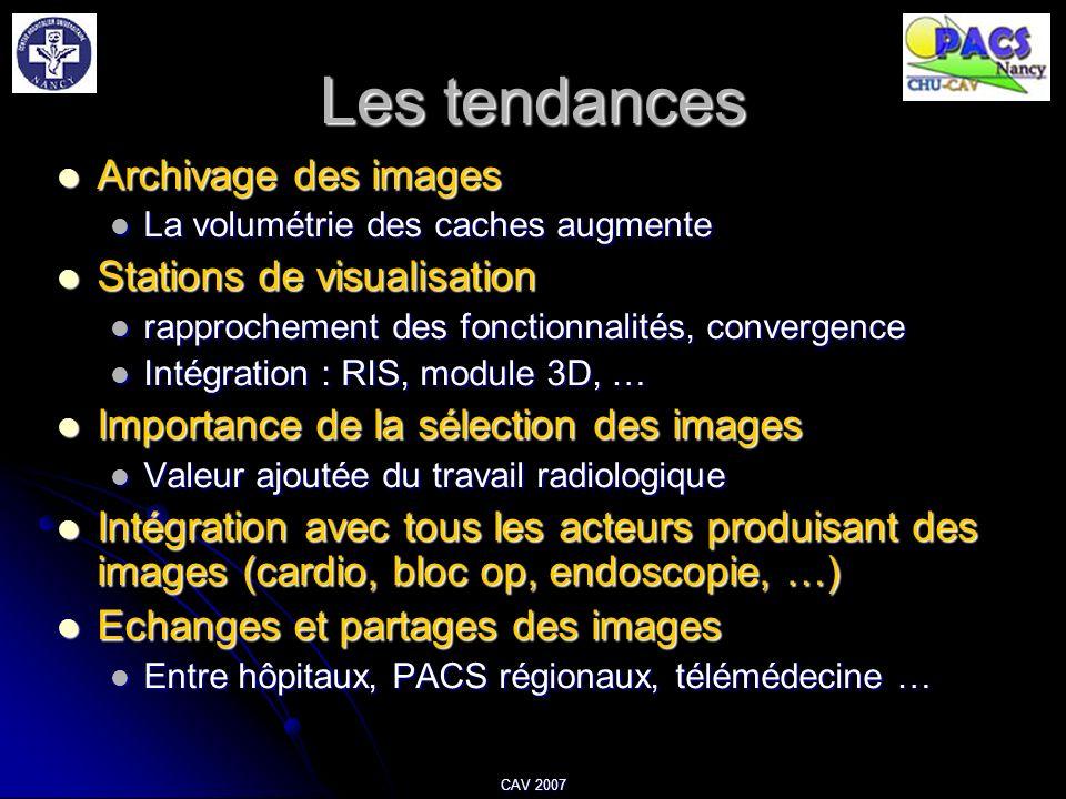 Les tendances Archivage des images Stations de visualisation