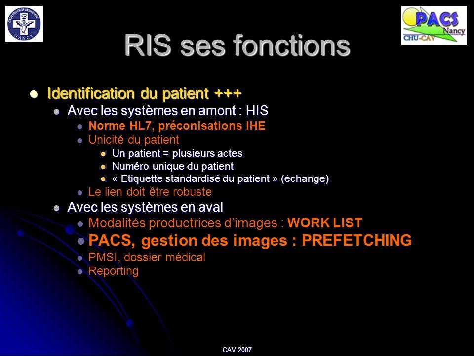 RIS ses fonctions Identification du patient +++