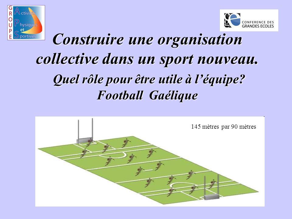 Construire une organisation collective dans un sport nouveau