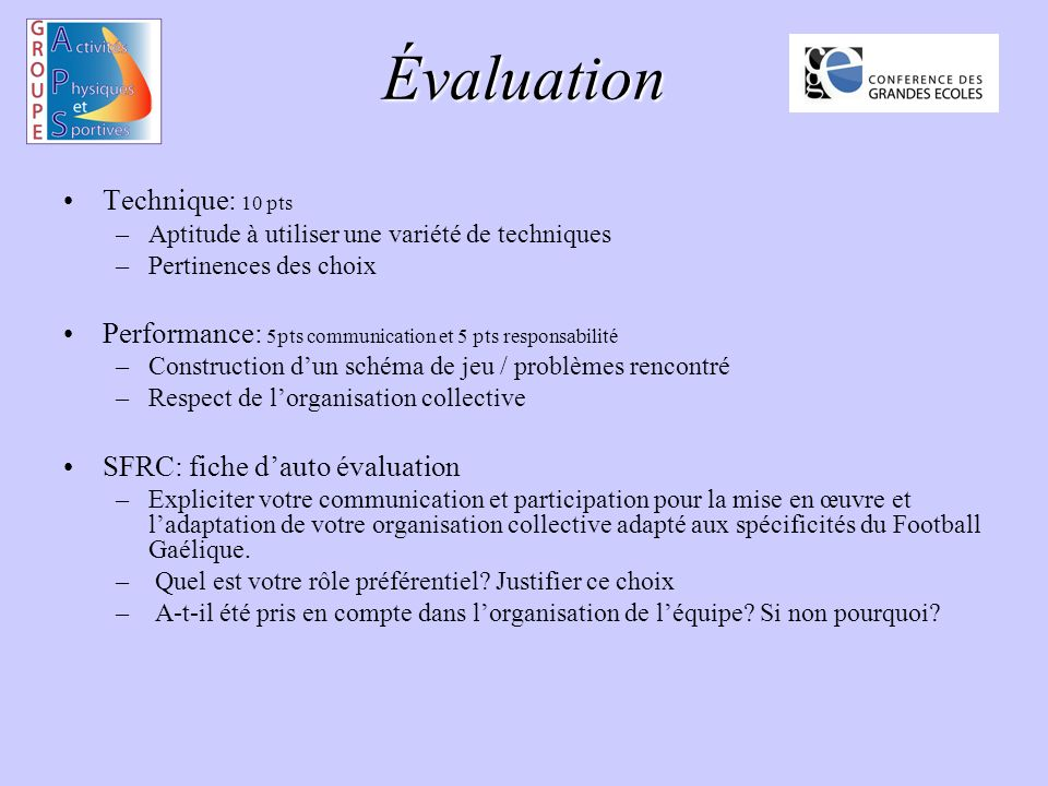 Évaluation Technique: 10 pts