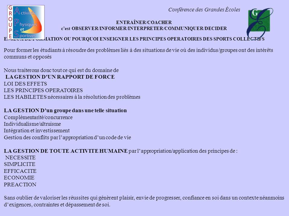 c'est OBSERVER/INFORMER/INTERPRETER/COMMUNIQUER/DECIDER
