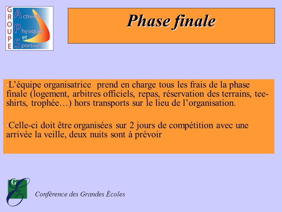 Phase finale