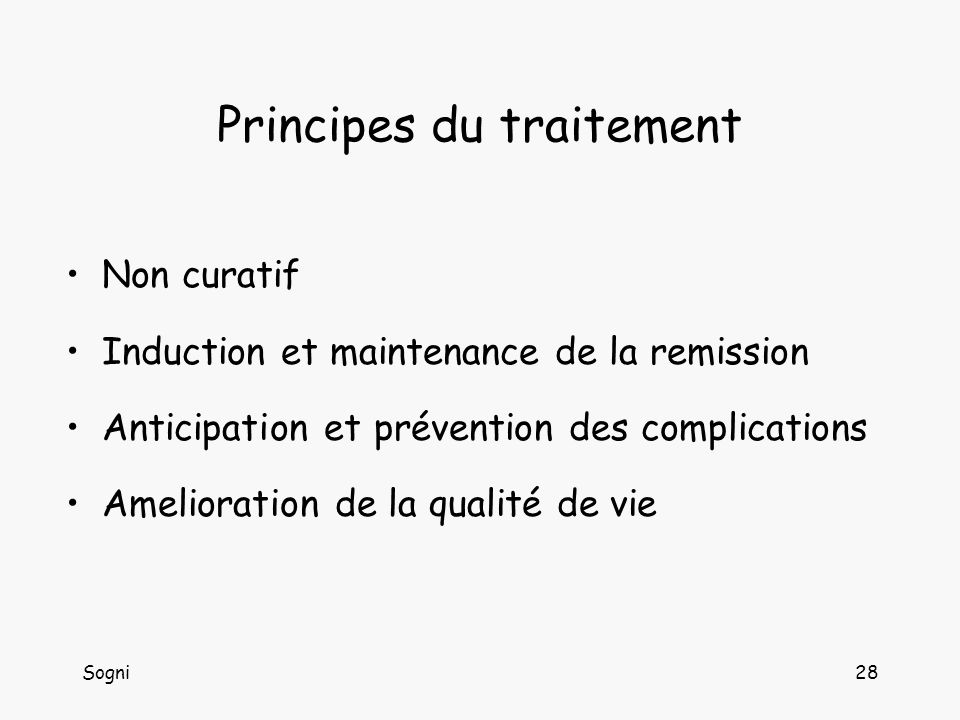 Principes du traitement
