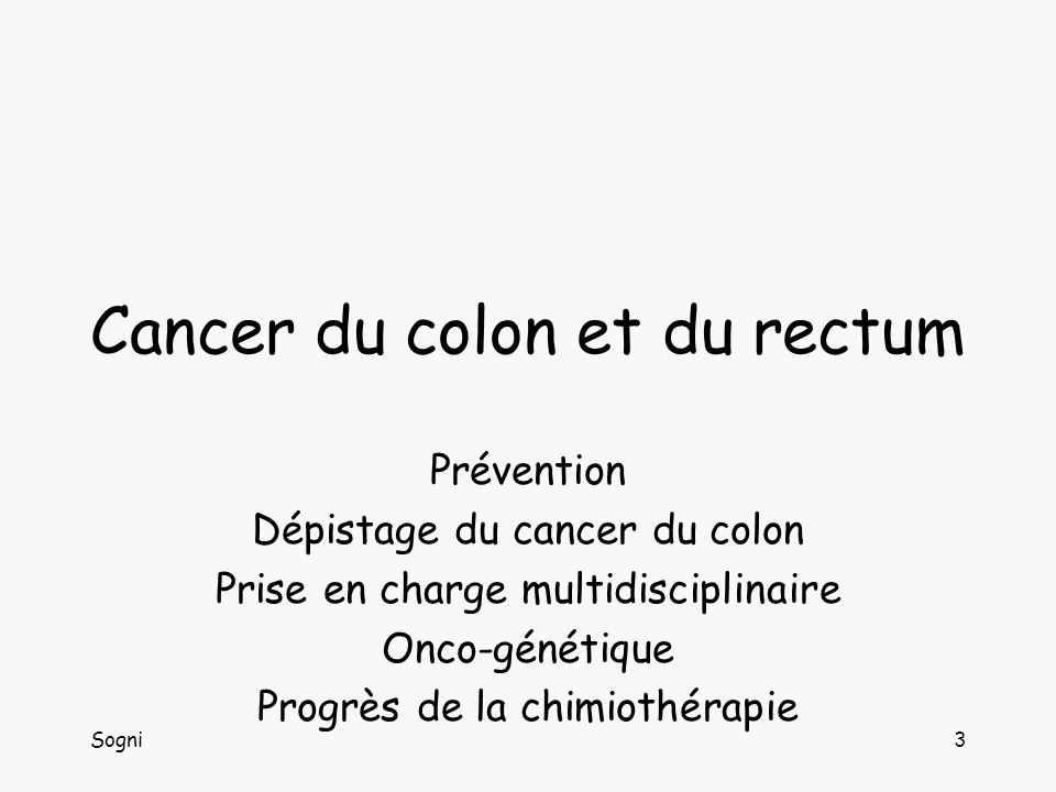 Cancer du colon et du rectum