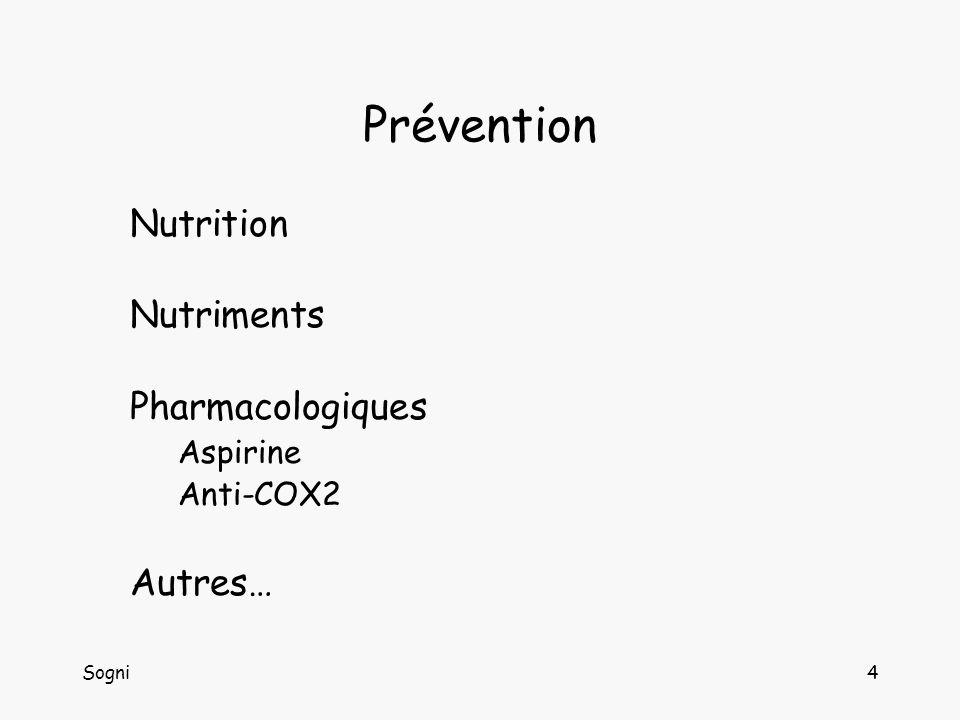 Prévention Nutrition Nutriments Pharmacologiques Autres… Aspirine