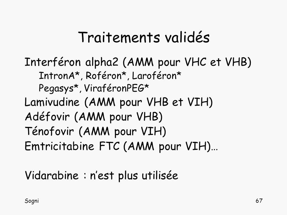 Traitements validés Interféron alpha2 (AMM pour VHC et VHB)