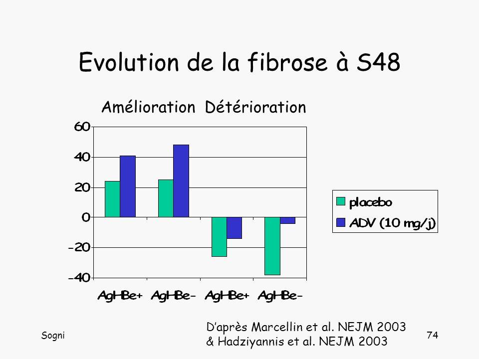 Evolution de la fibrose à S48
