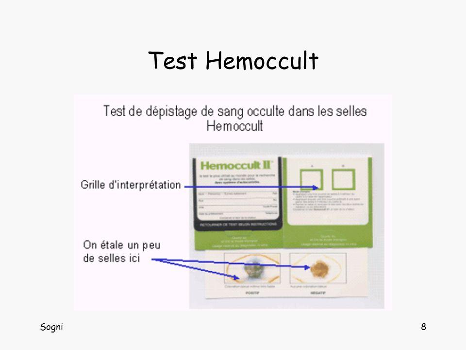 Test Hemoccult Sogni