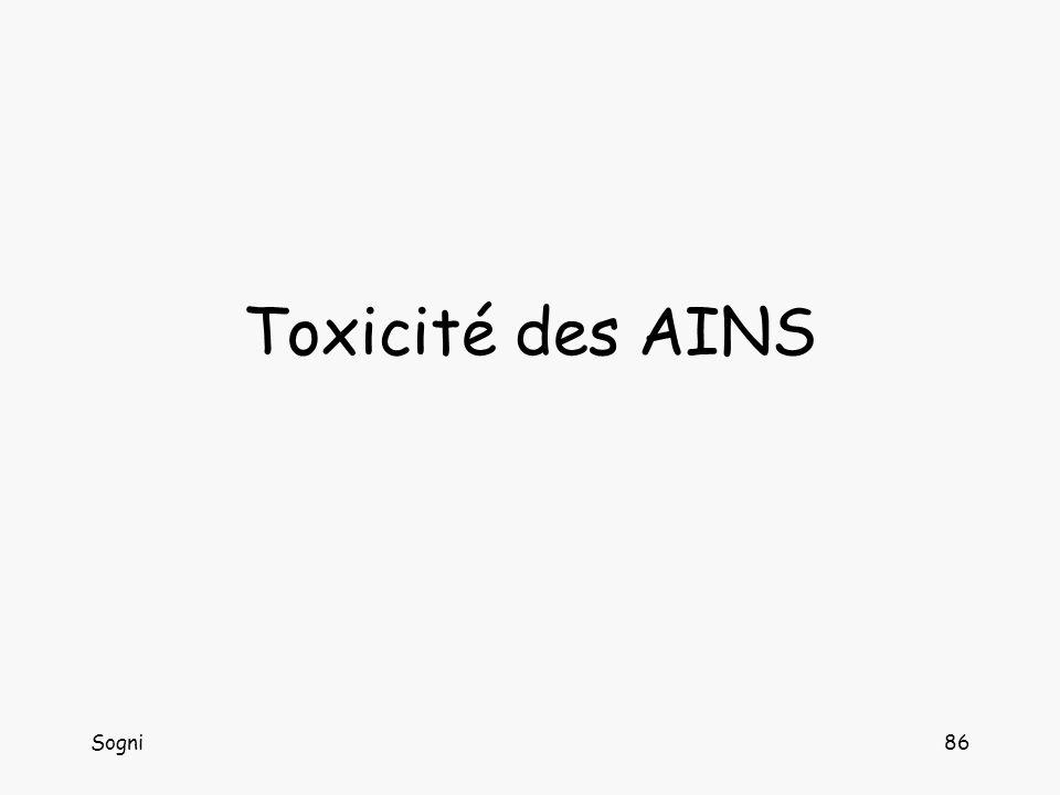 Toxicité des AINS Sogni